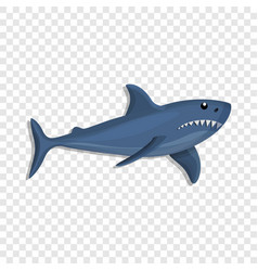 blue shark icon cartoon style vector image