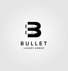 Bullet logo creative letter b icon vector