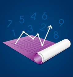 Business graph on paper vector image