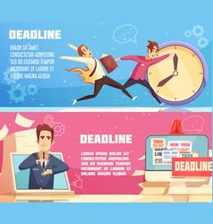 Business work deadline horizontal banners vector