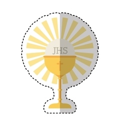 Chalice first communion icon vector
