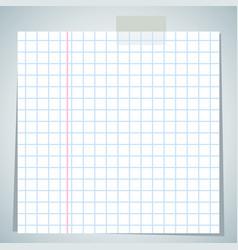 Checkbook paper sheet vector