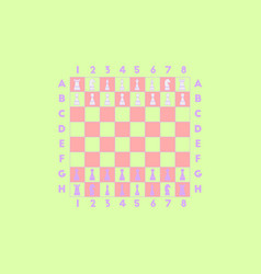 Chess game start vector