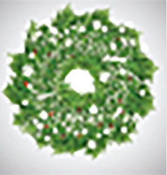 Christmas background with wreath vector