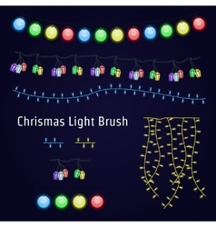 Christmas Light Garland vector image