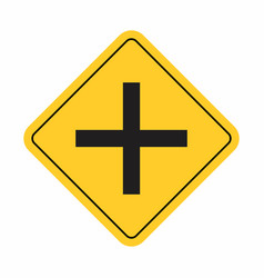 crossroads traffic sign vector image