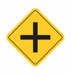 crossroads traffic sign vector image
