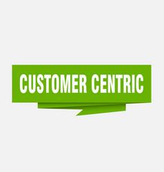 Customer centric vector