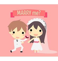 Cute couple wedding vector