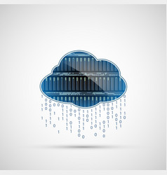Database internet server cloud computing icon vector