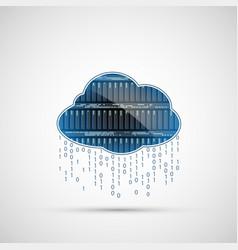 database internet server cloud computing icon vector image