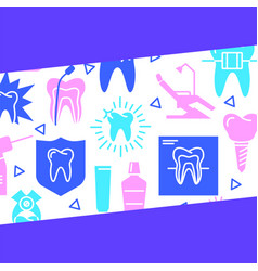 Dental clinic banner template in flat style vector