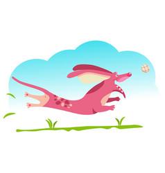 Dog pink vector