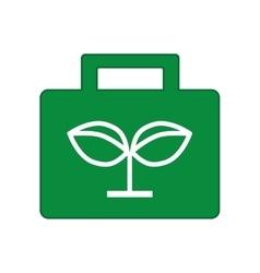 ecological portfolio isolated icon design vector image