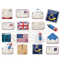 Envelopes and stamps vector image