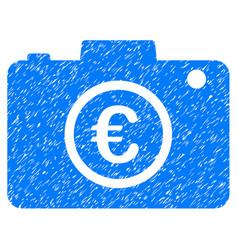Euro photo icon grunge watermark vector