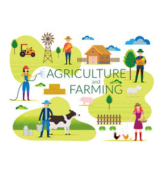 Farmer agriculture and farming concept vector