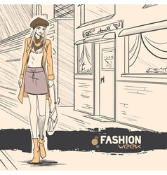 fashion style11 vector image