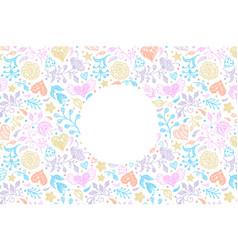 floral wedding invitation card vector image