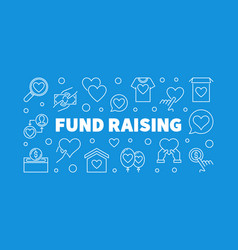 fund raising outline creative horizontal vector image