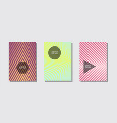 geometric design templates for banners covers vector image
