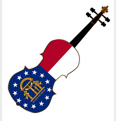 Georgia state fiddle vector