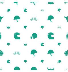 Helmet icons pattern seamless white background vector