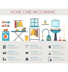 Home care and housekeeping infographic vector image