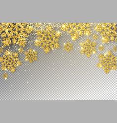 huge golden snowflakes vector image