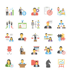 human resource flat icons vector image
