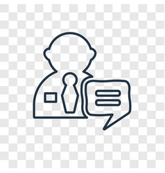 interview concept linear icon isolated on vector image