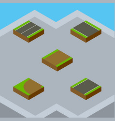 Isometric way set of without strip plane vector