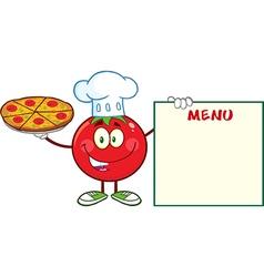 Italian Chef Tomato Cartoon vector image