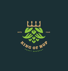 king hops logo vector image