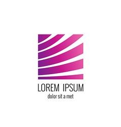 Lines logo vector image