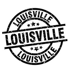 Louisville black round grunge stamp vector