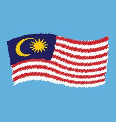 malaysia - jalur gemilang - flag flying vector image
