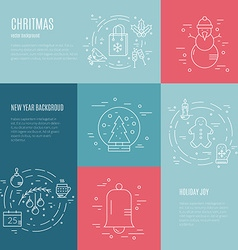 Minimalistic Christmas and New Year Designs vector image