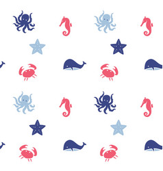 nautical theme seamless background vector image