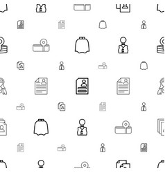 Occupation icons pattern seamless white background vector