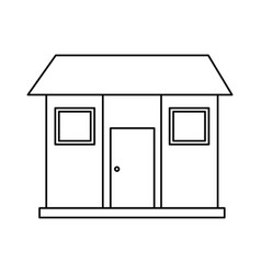 One story house icon image vector
