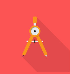 pair of compasses icon set of great flat icons vector image