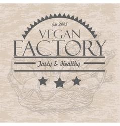 Pattern with vegetables in a basket vegan vector