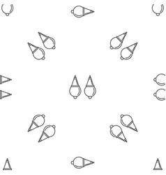 pearl earrings pattern seamless vector image