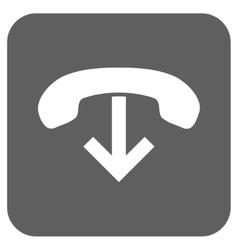 Phone Hang Up Flat Squared Icon vector
