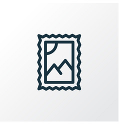 post stamp icon line symbol premium quality vector image
