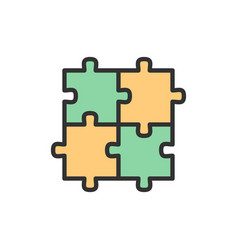 Puzzle jigsaw square integrity problem vector