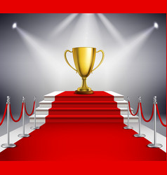 Red Carpet With Trophy vector