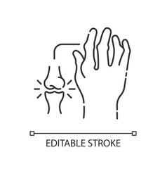 Rheumatoid arthritis linear icon vector