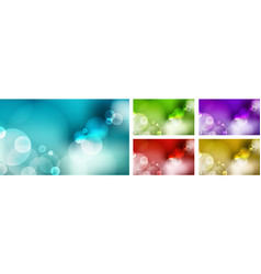 set abstract blurred blue sky green nature vector image